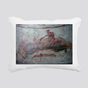 FRESCO EN POMPEYA Rectangular Canvas Pillow