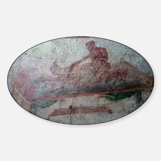 FRESCO EN POMPEYA Sticker (Oval)