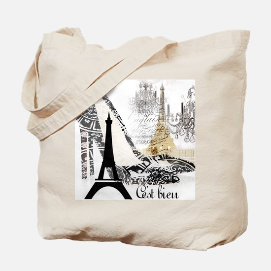 modern paris eiffel tower Tote Bag