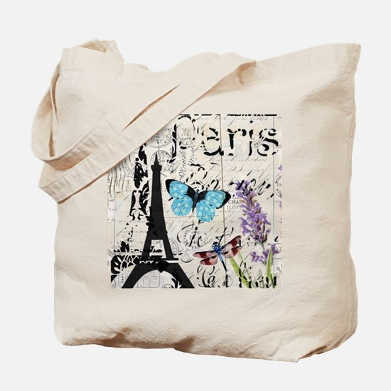 modern paris eiffel tower Tote Bag