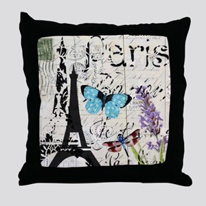 modern paris eiffel tower Throw Pillow