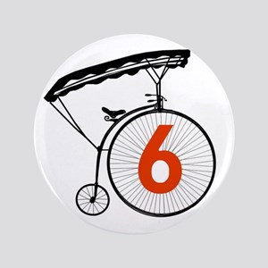 Number Six 6 Button Badge