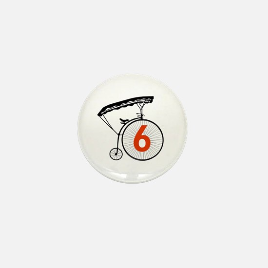 Number Six 6 Identity Badge Mini Button