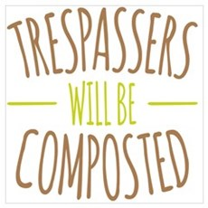 Trespassers Composted Framed Print