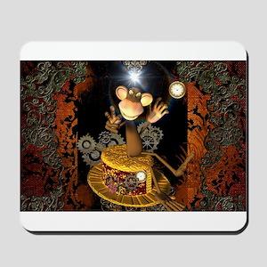 Steampunk, funny monkey Mousepad