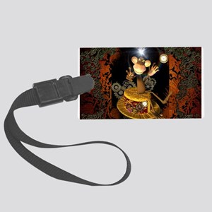 Steampunk, funny monkey Luggage Tag