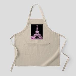 pink paris eiffel tower Apron