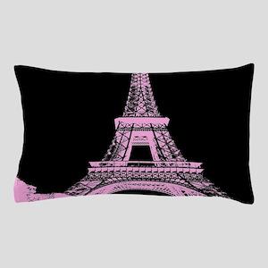 pink paris eiffel tower Pillow Case