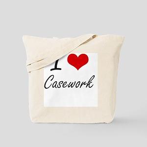 I love Casework Artistic Design Tote Bag