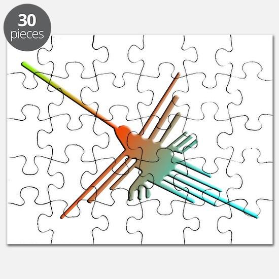 Colorful 3D Nazca Lines Hummingbird Puzzle