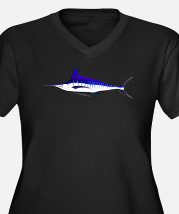 Striped Marlin v2 Plus Size T-Shirt
