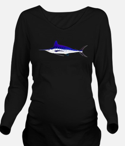 Striped Marlin v2 Long Sleeve Maternity T-Shirt