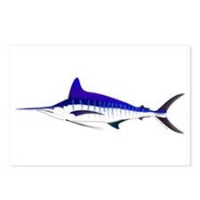 Striped Marlin v2 Postcards (Package of 8)