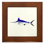 Striped Marlin v2 Framed Tile