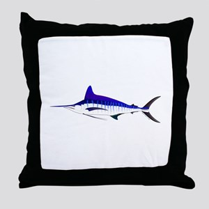 Striped Marlin v2 Throw Pillow