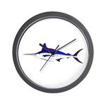Striped Marlin v2 Wall Clock