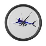 Striped Marlin v2 Large Wall Clock