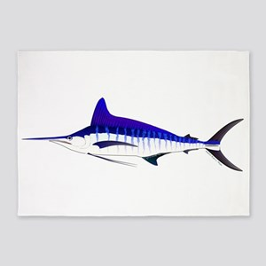 Striped Marlin v2 5'x7'Area Rug