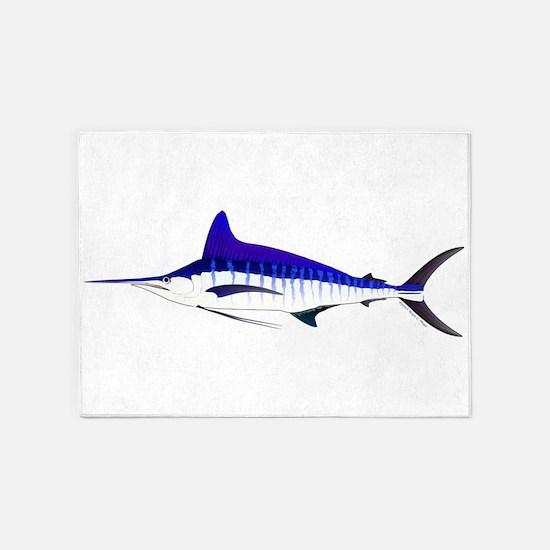 Striped Marlin v2 5'x7'Area Rug