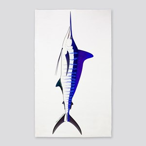 Striped Marlin v2 Area Rug