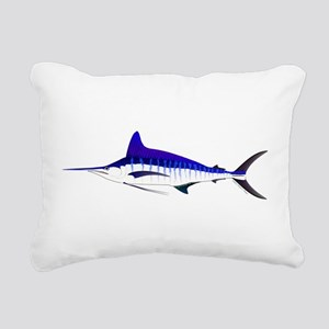 Striped Marlin v2 Rectangular Canvas Pillow