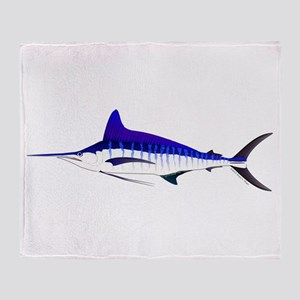 Striped Marlin v2 Throw Blanket