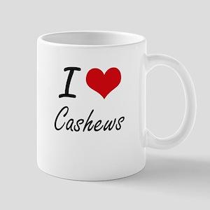 I love Cashews Artistic Design Mugs