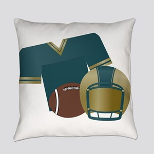 Blue and Gold Football Uniform Everyday Pillow