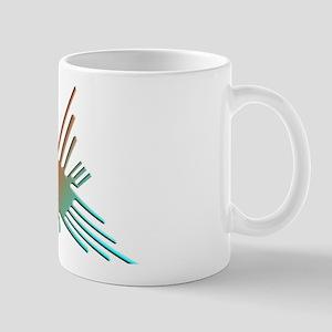 Colorful 3D Nazca Lines Hummingbird Mugs