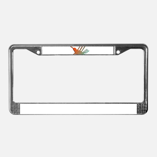 Colorful 3D Nazca Lines Hummin License Plate Frame