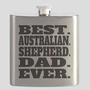 Best Australian Shepherd Dad Ever Flask