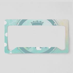 modern mint positive vibes License Plate Holder