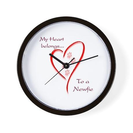 Newfie Heart Wall Clock