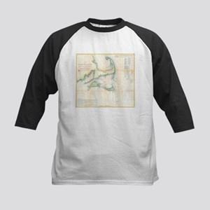 Vintage Map of Cape Cod (1857) Baseball Jersey