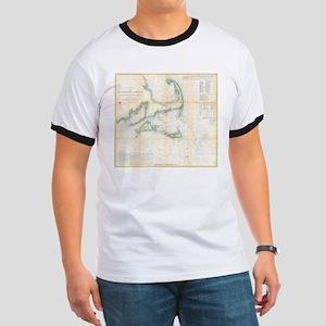 Vintage Map of Cape Cod (1857) T-Shirt
