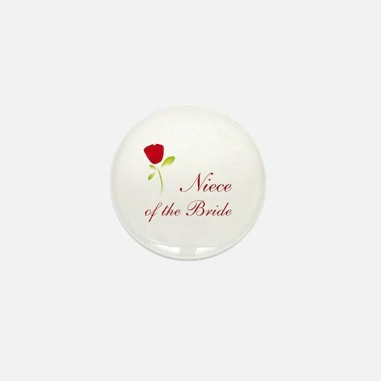 Red Bride's Niece Mini Button