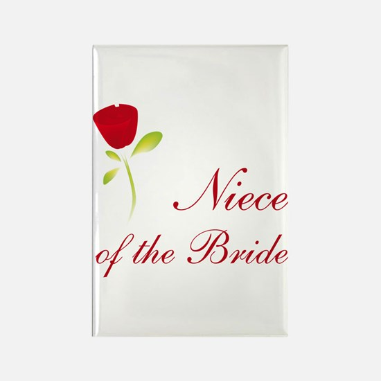 Red Bride's Niece Rectangle Magnet