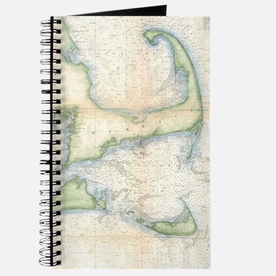 Vintage Map of Cape Cod (1857) Journal
