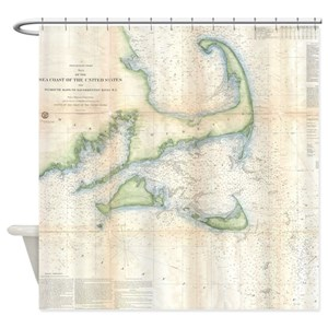 Massachusetts Map Shower Curtains