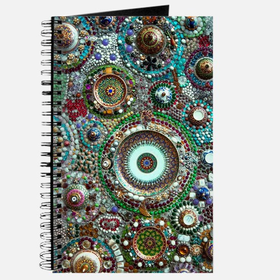 Colorful Crystal Mosaic Geometric Design Journal