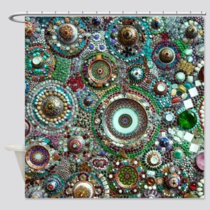 Colorful Crystal Mosaic Geometric D Shower Curtain
