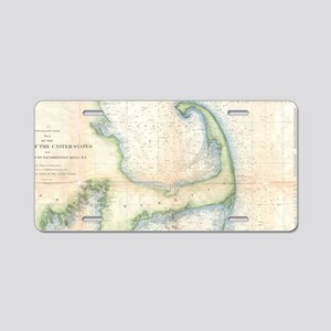 Vintage Map of Cape Cod (18 Aluminum License Plate