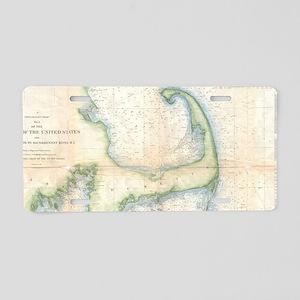 Vintage Map of Cape Cod (18 Aluminum License Plate
