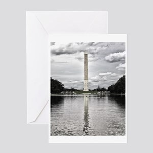 Silver Historical Washington Monument Greeting Car