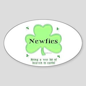 Newfie Heaven Oval Sticker