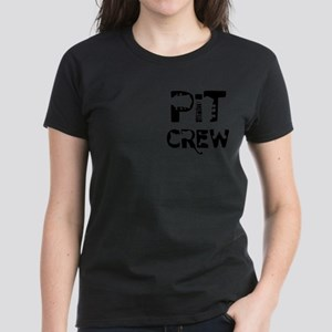 Pit Crew Pocket Image Women's Dark T-Shirt