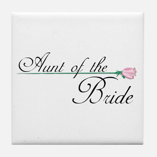 Elegant Aunt of the Bride Tile Coaster