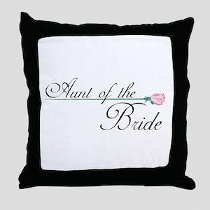 Elegant Aunt of the Bride Throw Pillow