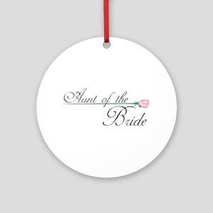 Elegant Aunt of the Bride Ornament (Round)