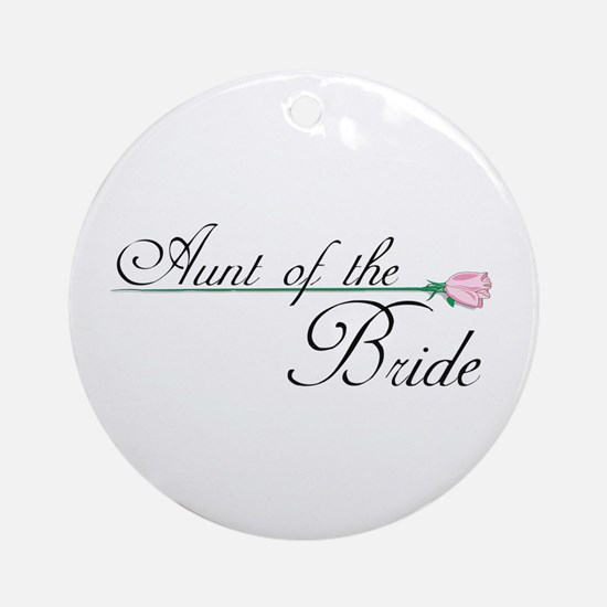 Elegant Aunt of the Bride Ornament (Round)